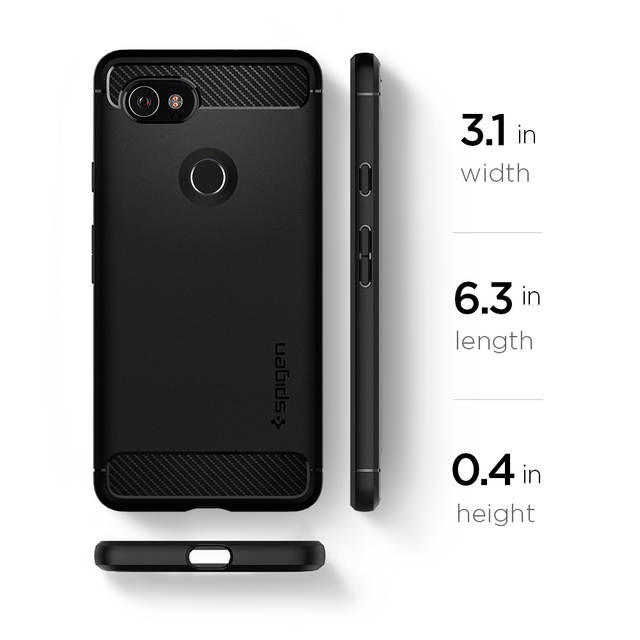 info for f91d3 cbe90 US $16.99 |100% Original SPIGEN Google Pixel 2 XL Case Rugged Armor Black  F17CS22279-in Fitted Cases from Cellphones & Telecommunications on ...
