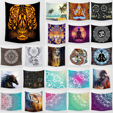 цены на Unicorn tapestry tiger dragon butterfly  wall hanging tapestry home decoration large rectangle bedroom wall tapestry  в интернет-магазинах