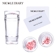 Clear Jelly Nail Stamper Scrapers Set
