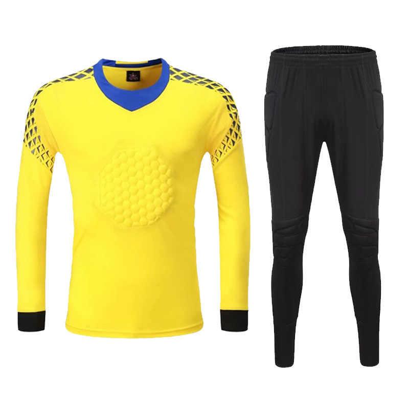 2c5846160 ... 2018 New Survetement Football Goalkeeper Jerseys Set Soccer Training  Suit Goal Keepers Protector Kits Goalie Uniforms ...