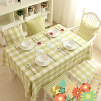 Hot Sale New Fashion Simple Green Plaid Style Table Cloth Party Home Coffee Table Cloth Restaurant