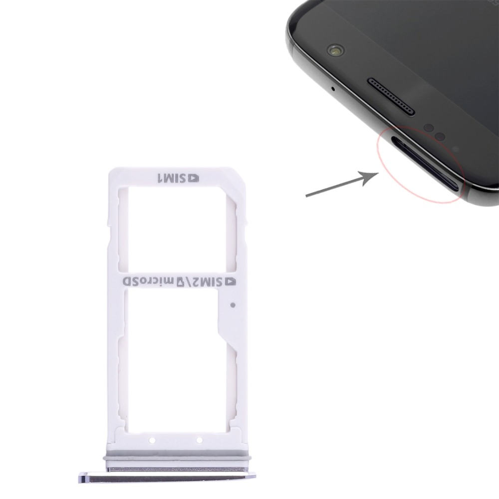 Dual SIM Card Tray / Micro SD Card Tray for Galaxy S7 / S7 Edge image