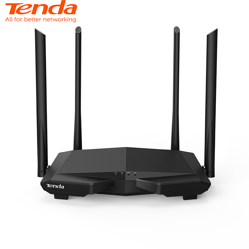 Tenda AC6 V4.0 Dual Band 2.4G/5.0GHz AC1200 WiFi Repeater Wireless WiFi Router , APP Remote Manage