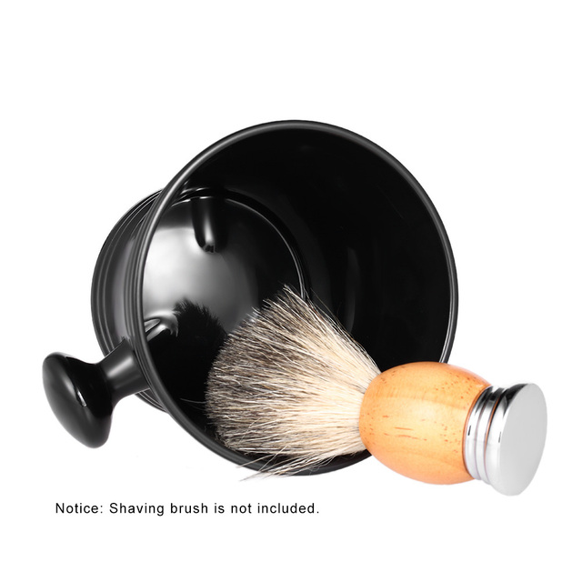 Man's Plastic Shaving Bowl with Handle Male Shaving Brush Soap Mug Bowl Face Barber Cleaning Tools Holder Soup Cup for Razor