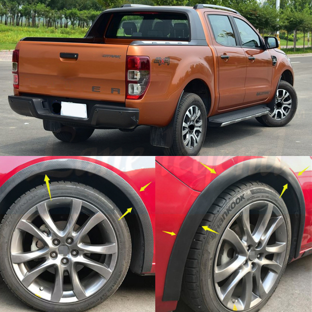 Us 45 75 22 Off Fender Flares For Ford Ranger 2018 Wildtrak Accessories Mudguards For Ford Ranger 2016 2017 Parts In Mudguards From Automobiles