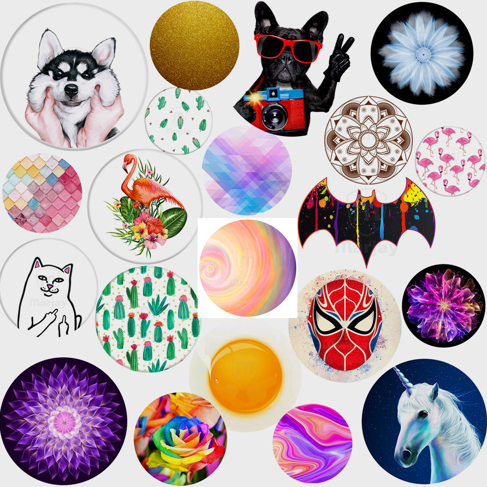 Fashion POP Phone Holder Stand for Smartphones Tablets For Iphone 6 7 8 Huawei P8 Lite for iPhone 7 Sexy Lip Bat Dog Painting