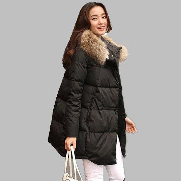 Chaqueta de invierno de las mujeres 2016 nuevo abrigo de invierno engrosamiento femenina caliente abajo chaqueta con capucha larga de las mujeres parkas abajo abrigos A298