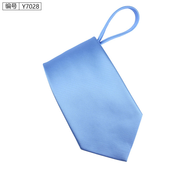 New 7cm Zipper Men Ties Business Fashion Style Slim Men Neck Tie Simplicity Design Solid Color For Party Lazy Formal Ties 12