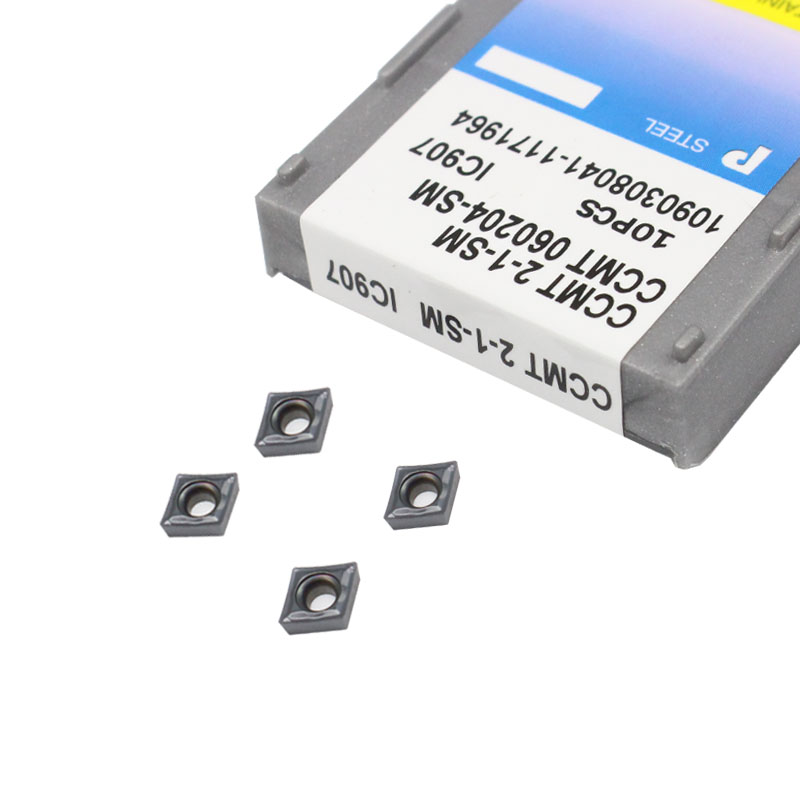 10PCS CCMT060204 SM IC907 CCMT 2-1-SM IC907 carbide insert lathe Turning Inserts