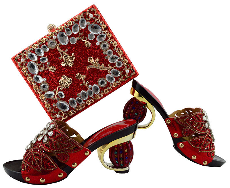 Fashion African shoe and bag set for party Italian shoe with matching bag new design lady matching shoe and bag GL04 top quality italian shoe with matching bag set with applique and diamonds for party african women shoe and bag to match mjy1 39