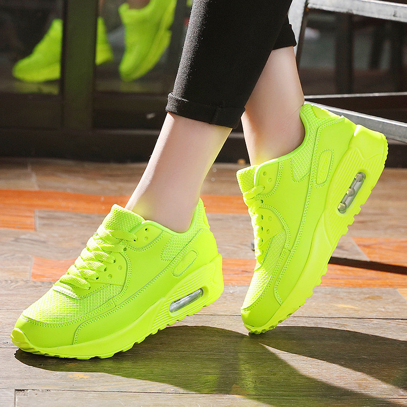 Summer Fashion Korean Women Sneakers Green Red Black Trainers Breathable Air Mesh Damping Outdoor Casual Shoes Lady Basket Femme