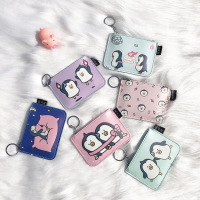 20pcs/lot Cartoon New Coin Purse Multi function Card Holder Simple Penguin Pattern Coin Purse Women's Wallet