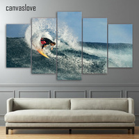 5 Pieces Canvas Paintings Printed Ocean Surf Wall Art Print Canvas Art Paintings Home Decor For Living Room ny-1775