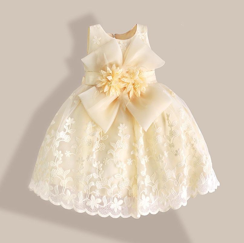 6f7b26bf8653e Noël bébé fille robe rouge dentelle fleur broderie enfants robes pour  filles robe de soirée vestido infantil 1 6 ans dans Robes de Mère et Enfants  sur ...