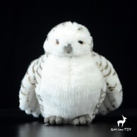 Simulación Nieve Muñeca Búho de Peluche Animales Juguetes Para Niños de Cabeza Lechuza Blanca Regalos Toy Dolls