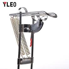 YLEO Automatic Double Spring Angle Fishing Pole High Steel Tackle Fish Bracket Rod Holder Rods Accessories