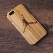 Jordan Wood Coque Para Cover Case For Apple iphone 6 6s +Screen Protector +Retail package