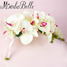 Waterfall Pastoral Brides Bouquet: Western Artificial Phalaenopsis