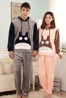 NEW Winter Totoro Couple Pajama Sets Adult Onesie Pyjamas For Women Men Female Adult Footed Pajamas