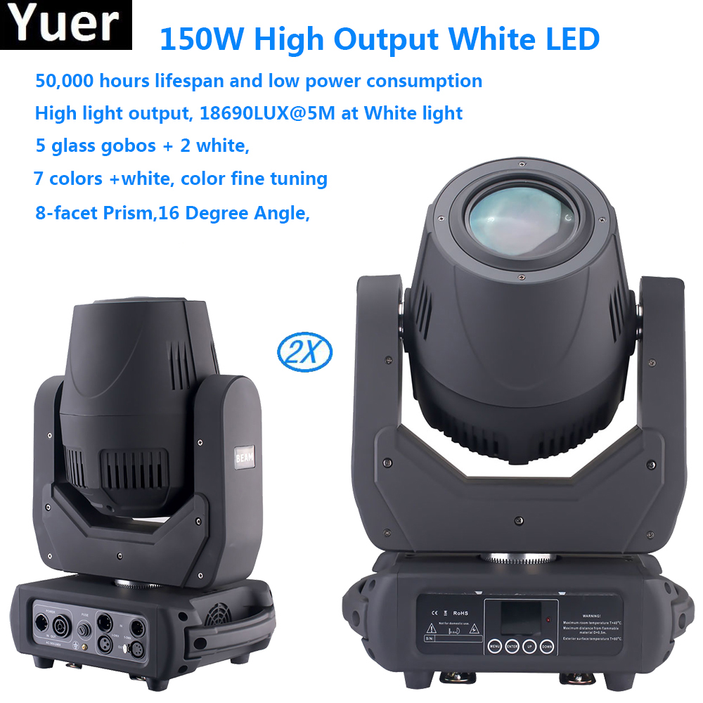 2pcs/lot 150W LED Moving Head Light With Gobos High Brightness Stage Light For Stage Theater Disco Nightclub Party DJ equipment 2pcs/lot 150W LED Moving Head Light With Gobos High Brightness Stage Light For Stage Theater Disco Nightclub Party DJ equipment