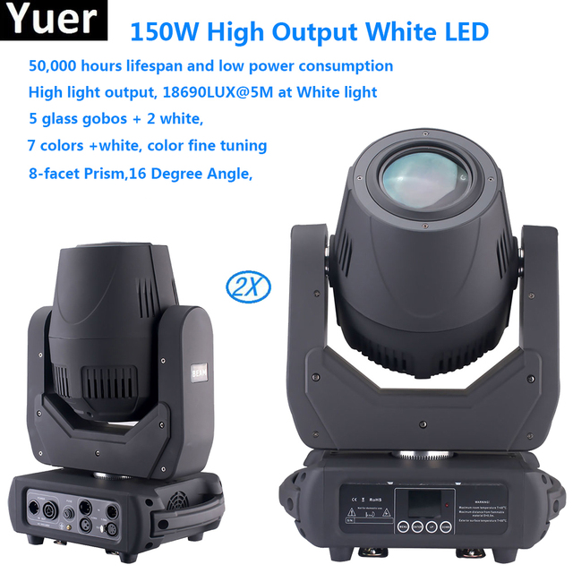 2pcs/lot 150W LED Moving Head Light With Gobos High Brightness Stage Light For Stage Theater Disco Nightclub Party DJ equipment