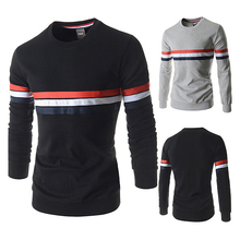 2017 Men Spring Autumn Casual Polos Shirts Youth Slim Long Sleeve Tees Tops Cotton Pullover Striped Fashion Male Hot Polos Shirt