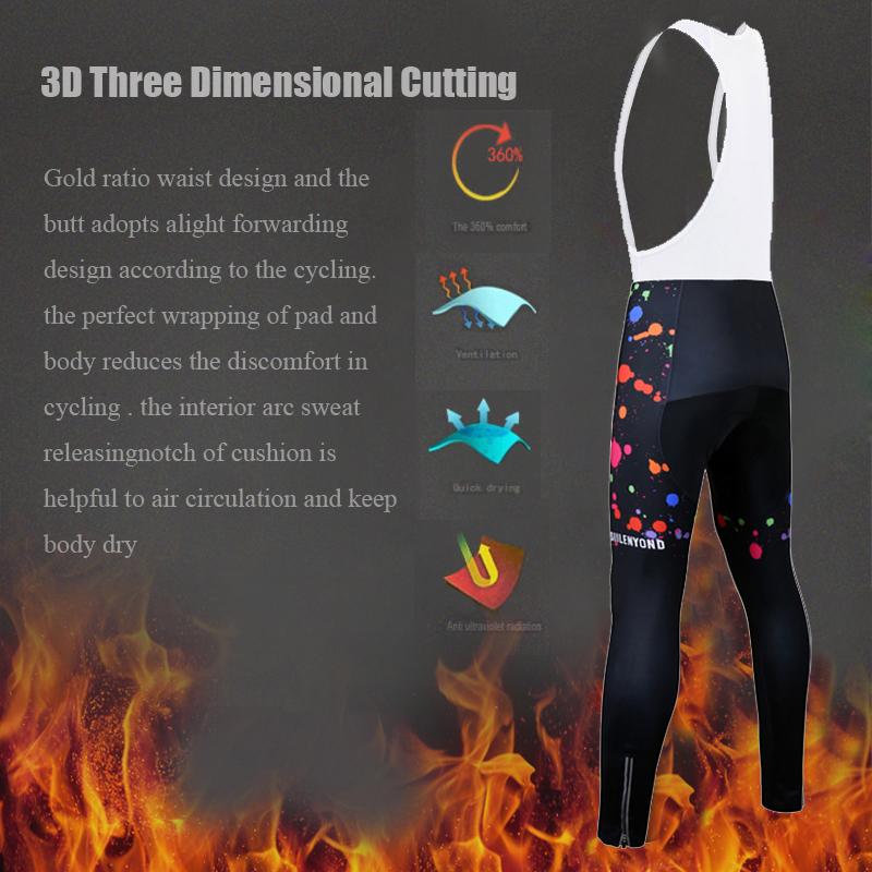 Siilenyond 2019 Women Winter Keep Warm Cycling Pants Thermal Fleece MTB Bike Cycling Trousers With Coolmax 3D Gel Padded 5