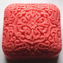 Flower Pattern manual Salt soap molds / silicone mold / Square Handmade Craft Casting Mould цена