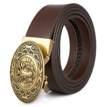 Genuine Leather belts for men High quality metal automatic buckle leather Strap male Jeans  Ratchet Belt waistbands cummerbunds