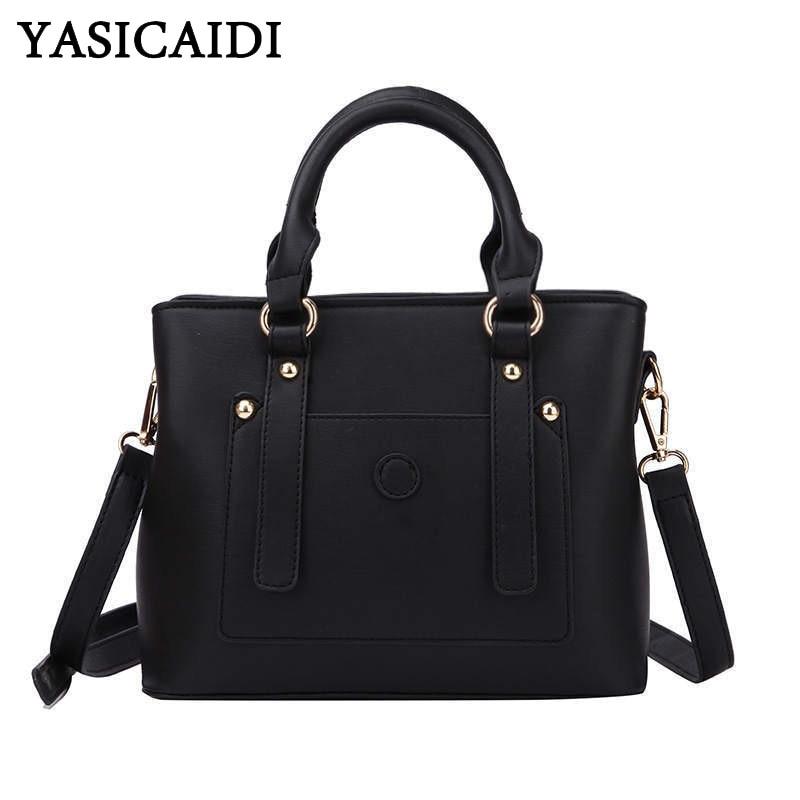 YASICAIDI Luxury Handbags Crossbody-Bags Bolso Designer Fashion Women Brand PU Rivet