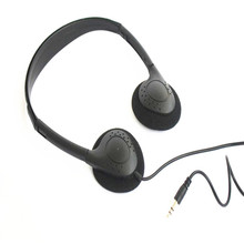 Inexpensive over-the-ear headphones , 3.5MM plug l.8M stereo cord, hospital, trains buses headsets, free shipping