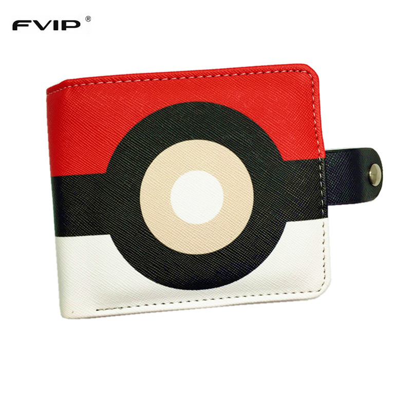 FVIP Hot Game Poke Go New Design Poke Wallet Poke Ball Pikachu Charmander Bulbasaur Squirtle Mewtwo Billetera Wallets