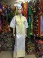 2016 Африканских женщин Базен Riche платье для женщин Длинная Хлопчатобумажная Ткань Платье Традиционная Вышивка Базен Мода S2375