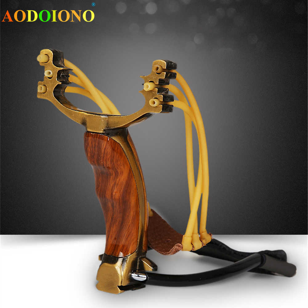 Powerful Hunting Bow Compound Hunting Slingshot Outdoor Slingshot Toy Game For Child Adult Pocket Slingshot Rubber Band Sports
