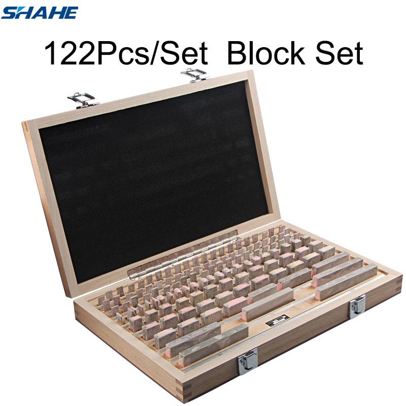 shahe Block Gauge 122Pcs Set 1 grade 0 grade Caliper Block gauge Inspection Block Gauge Measurement