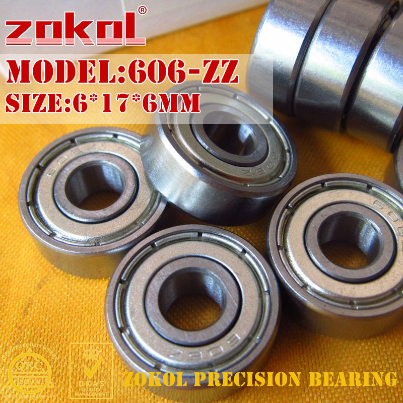 ZOKOL 606 2RS ZZ Z1 Bearing 606-2RS 606rs 606ZZ Miniature  606zz P5Z4 Eep Groove Ball Bearing 6*17*6mm