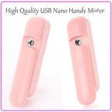 10PCS/Lot Free Shipping Outdoor Hydro Water Spa Ionic Nano Mist Spray Atomization Mini USB Nano Mister Facial Humidifier