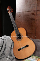 Finlay 39 Inch Full Solid Acoustic Classical Guitar With Spruce Top Solid Rosewood Body Hard Case