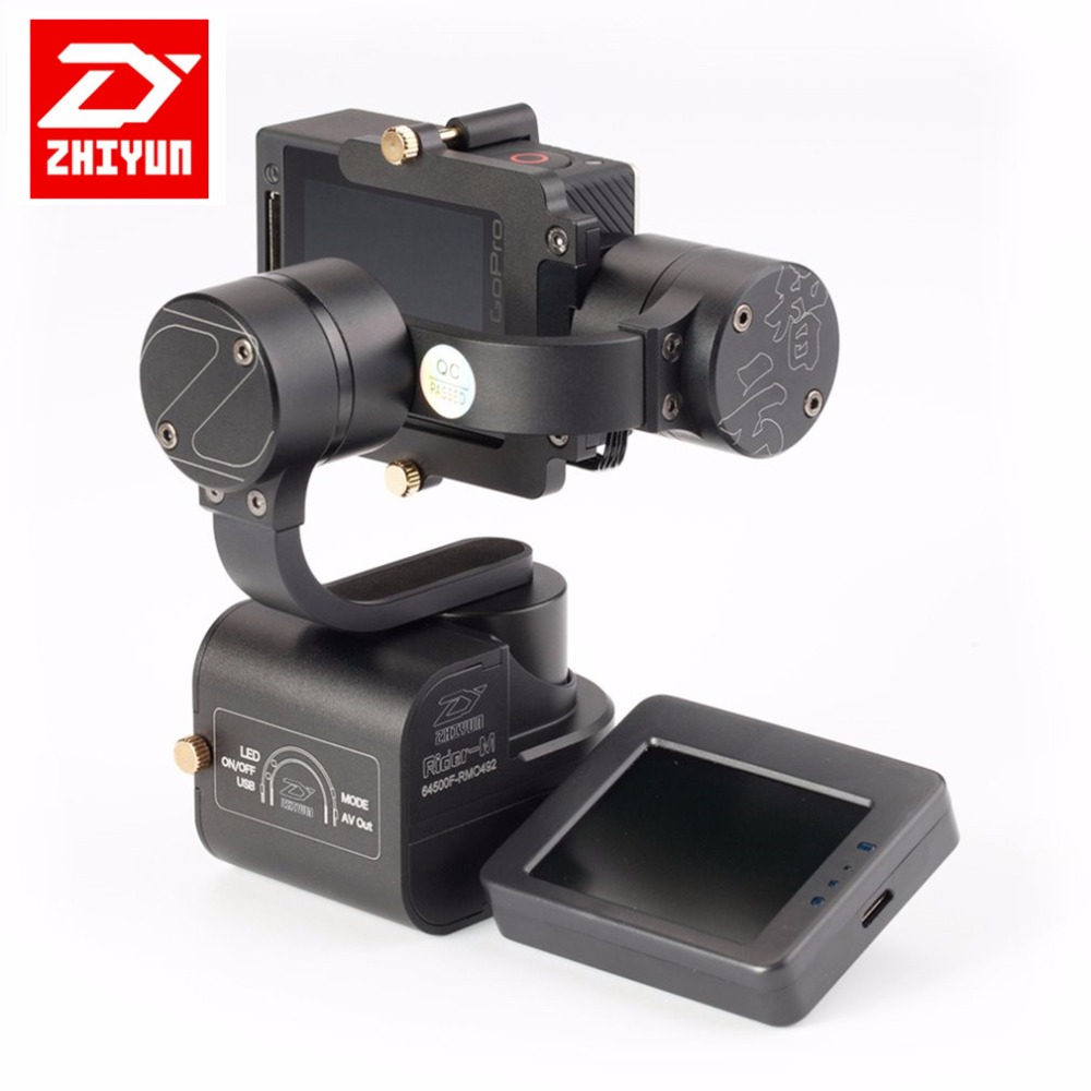 Zhiyun Rider M 3-Axle Handheld Gimbal Stabilizer Wearable Camera Gimbal Support Wireless Remote Control APP for GoPro Hero 1/2/3 zhiyun crane m 3 axle handheld stabilizer gimbal remote controller case for dslr camera support 650g smartphone camera f19238 a