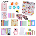 Andoer 14 in 1 Accessories Kit for Fujifilm Instax Mini 8 8+ 8s with Camera Case Strap Sticker Selfie Lens Colored Filter Album