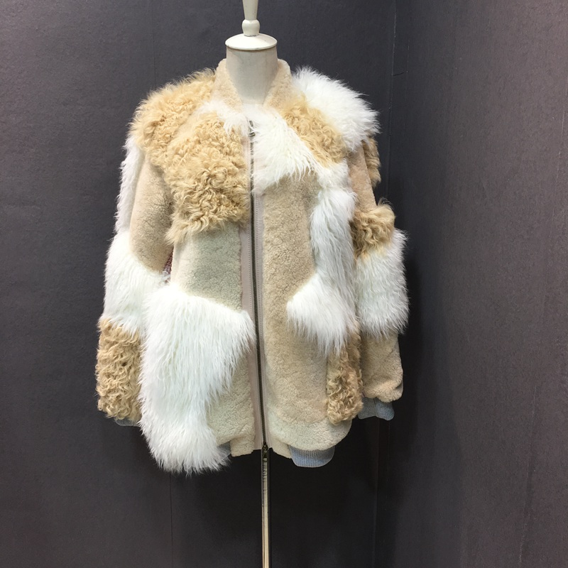 natural sheep fur coat real lamb fur (7)