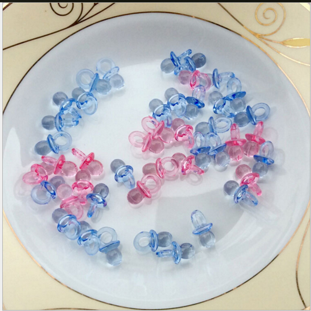100Pcs New Baby Mini Pacifiers Feeding Dummies Soother Nipples Feeder Boys Girls Birthday Decorations Wholesale