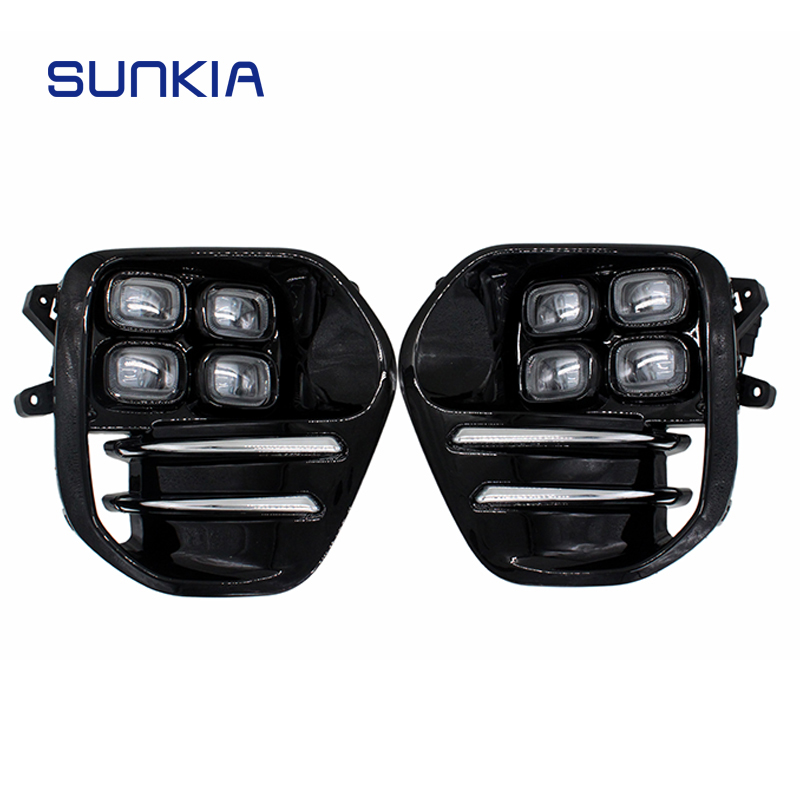 2Pcs/Set SUNKIA for KIA Sportage KX5 2016 2017 2018 DRL Daytime Running Light Fog Lamp Car Styling Day Light Free Shipping sunkia 2pcs set led drl daytime running light fog driving light guide light style for ford kuga escape free shipping