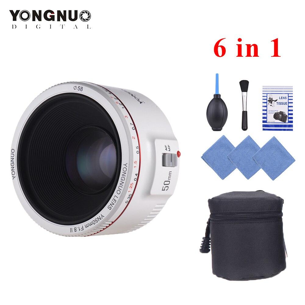 YONGNUO YN50mm Lens F1 8 II Standard Prime Lens Large Aperture Auto Focus 0 35 Closest