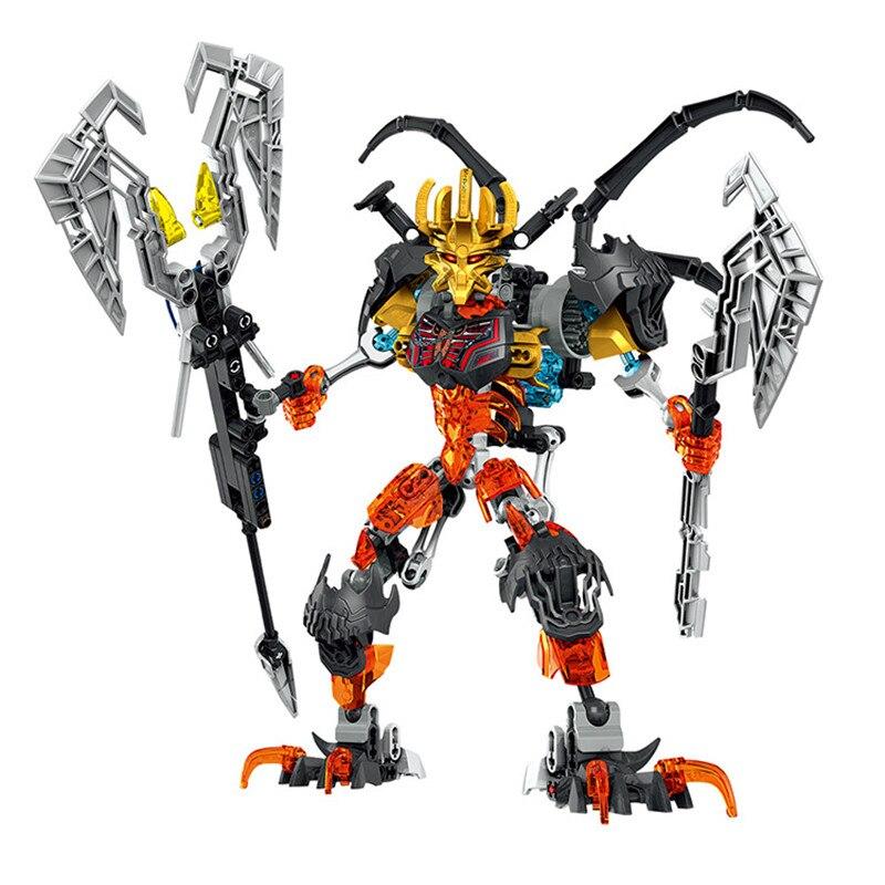 Image 5 - BIONICLE Mask Maker vs. Skull Grinder Biochemical Warrior Building Block set  Robot Model Bricks Compatible with 70795 Kids Toys-in Blocks from Toys & Hobbies