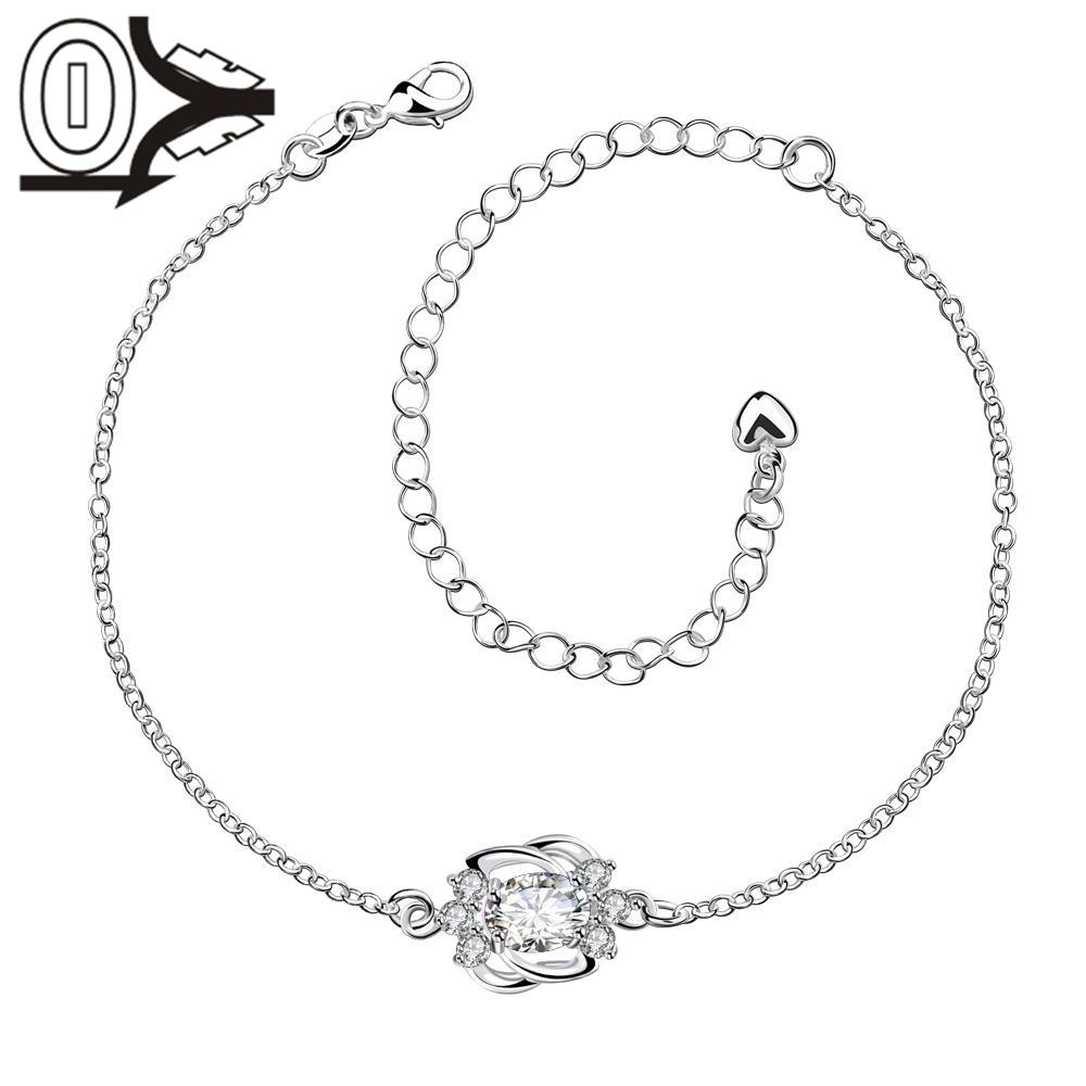 A005-D Free Shipping New Design Large Stock Delicate Handmade Cheap Silver Plated Anklet Ladies Feet Chain Bracelets Bulk Sale