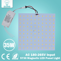 180 265V Square Quadrate 35W SMD5730 Magnetic LED Ceiling Light Bulb LED Panel Lamps