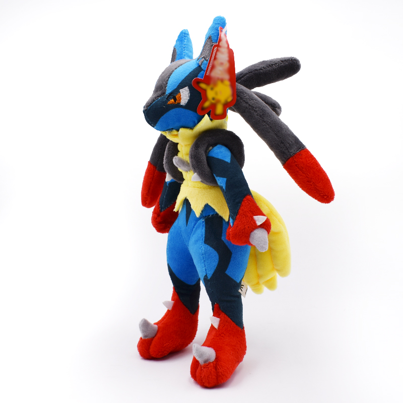 28cm Mega Lucario XY Plush Toy Soft Stuffed Anime Doll High Quality Baby Toy Christmas Gift For Children Free Shipping