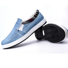 Trend top men's casual canvas shoes breathable Korean style comfortable pedal driving shoes lazy men wear-resisting Doug shoes