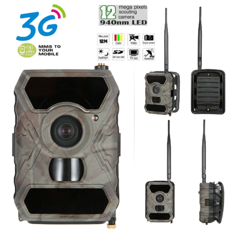 Skatolly S880G 3G Wide angle Hunting Camera 12MP 1080P wildlife Trail Game Camera infrared Night Vision photo traps chasse hunt